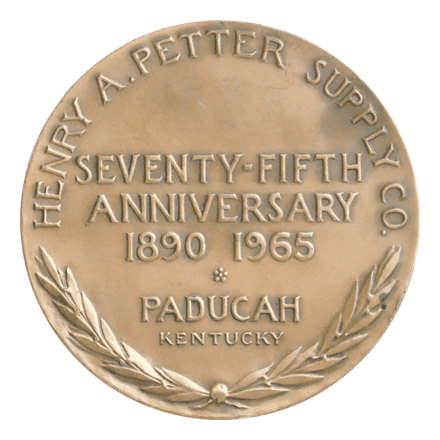 new style 47e3f 62153  Henry A. Petter Supply Co. 75th Anniverary Medal  by Jeno Juszko -  Medallic Art Collector